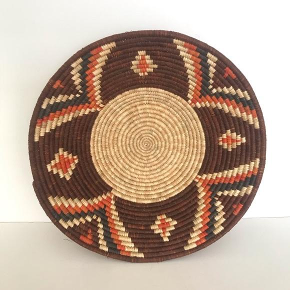 Vintage Other - Vintage Natural Woven Grass Boho Basket